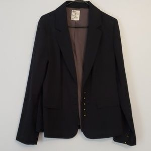 Tulle Blazer Size XL Blue Stripes